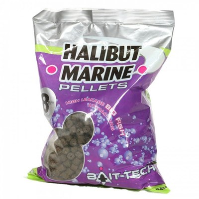 Bait-Tech Halibut Marine Pre-drilled Pellets 900g