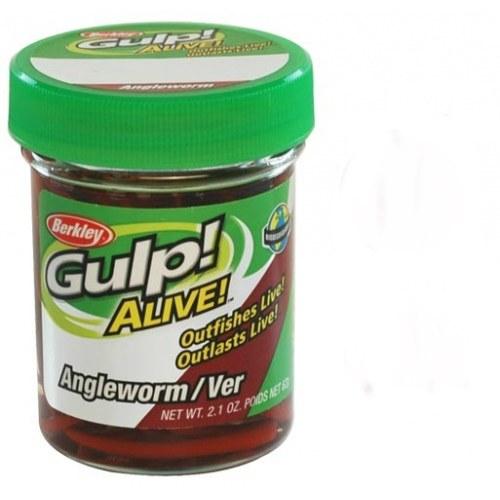 Berkley Gulp Alive Angle Worm Red Wiggler