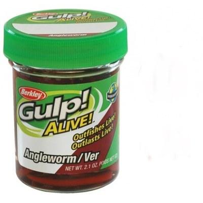 "Berkley Gulp! Alive Angle Worm 2"" Red Wiggler"
