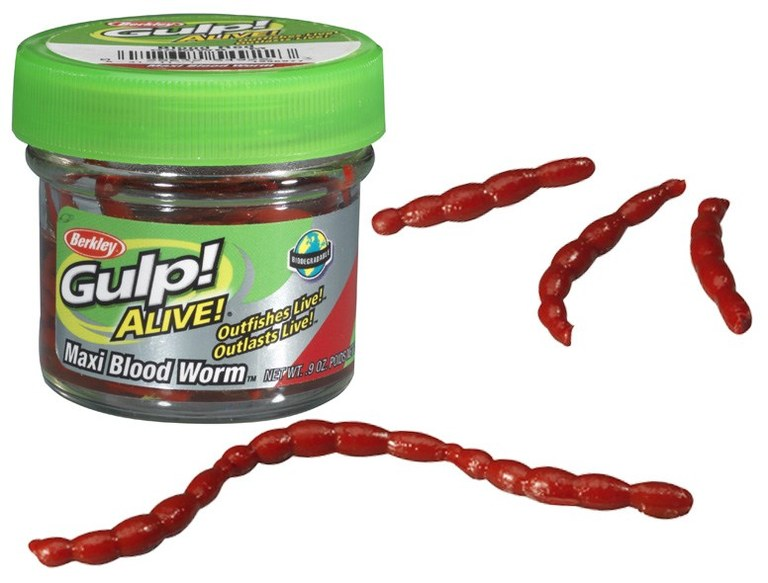 Berkley Gulp Alive Maxi Blood Worm