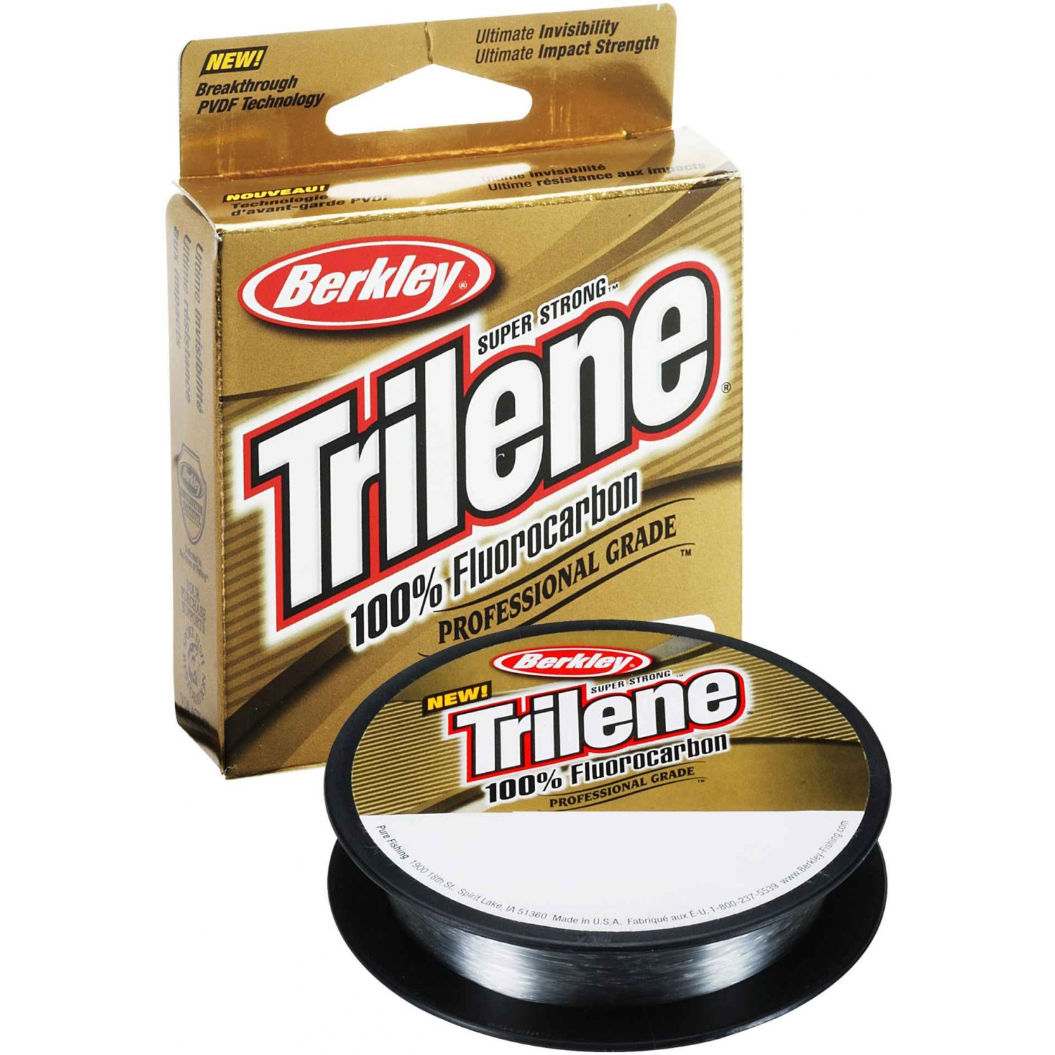 Berkley Trilene 100/% Fluorocarbon 0,35mm 10kg 50m Clear Fluoro Carbon Made USA
