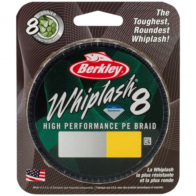 Berkley Whiplash 8 Braid 300m Yellow
