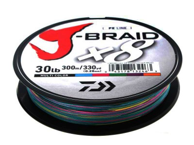 Daiwa J-Braid X8 Multi Colour 300m
