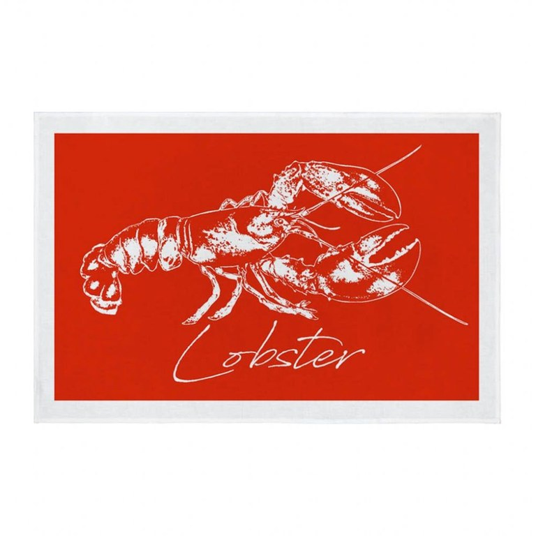 Fish Tea Towel Lobster