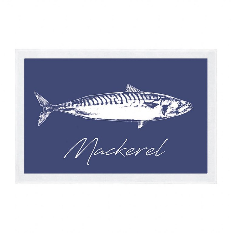 Fish Tea Towel Mackerel