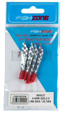 Fishzone Reflect 4 Hooks Size 2/0