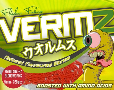 Fladen Vermz Worms Bloodworm 9mm