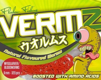 Fladen Vermz Worms Bloodworm 9mm