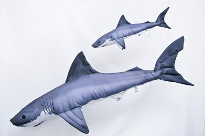 Gaby Mini Great White Shark Pillow 53cm