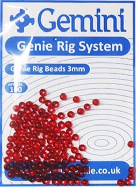 Gemini Genie Rig Bead Ruby Red