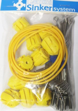 Gemini System 100 Assembly Kit Long Tail Long Grips Yellow
