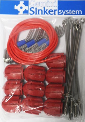 Gemini System 100 Assembly Kit Standard Grips Long Tail Red