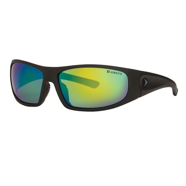 Greys G1 Sunglasses Matt Carbon Green Mirror