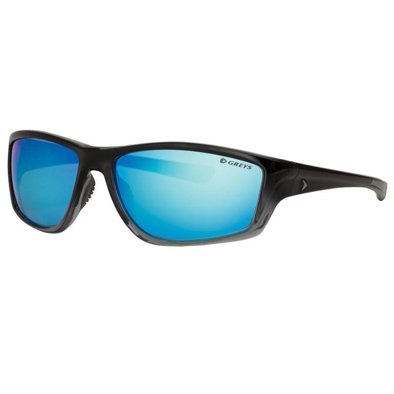 Greys G3 Sunglasses Gloss Black Blue Mirror