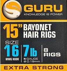 """Guru Bayonet Hair 15"""" Rigs"""