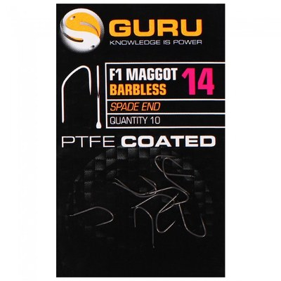 Guru F1 Maggot Hook Barbless