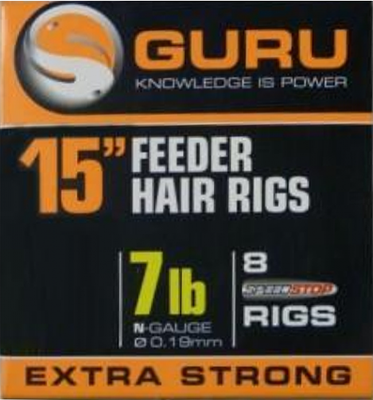 "Guru Feeder Hair 15"" Rigs With Speed Stops"