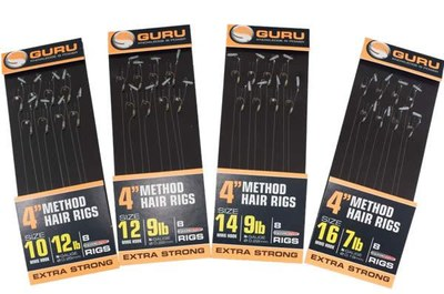 "Guru Method Hair Rigs 4"" With Speed Stop"