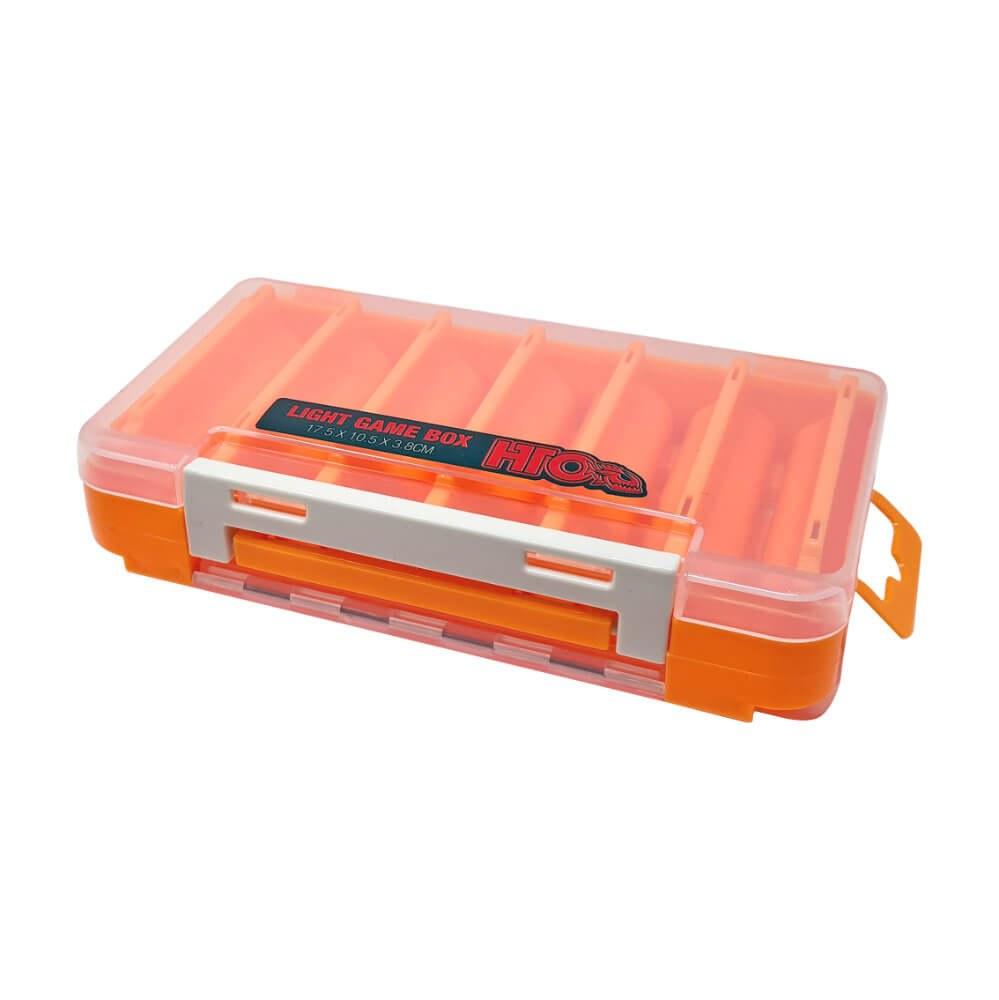 HTO Light Game Tackle Box Orange