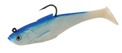 Sidewinder Super Shads Blue/White 5""