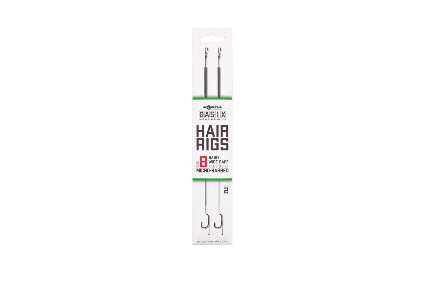 Korda Basix Hair Rig Barbed Barbless