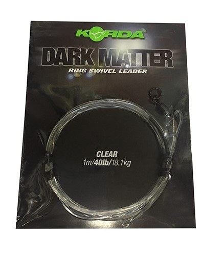 Korda Dark Matter Ring Swivel Leader Clear