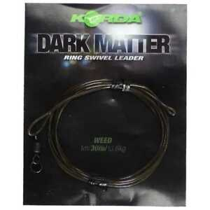 Korda Dark Matter Ring Swivel Leader Weed