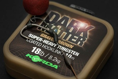 Korda Dark Matter Super Heavy Tungsten Coated Hooklink Gravel Brown