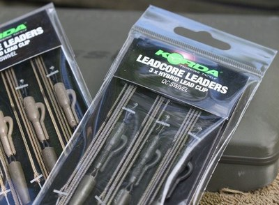 Korda Kable Leadcore Leaders Hybrid Lead Clip QC Swivel
