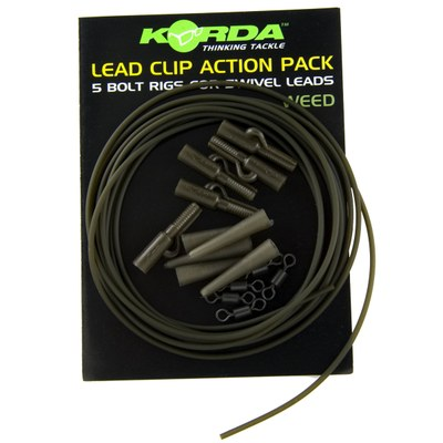 Korda Lead Clip Action Pack Weed Green