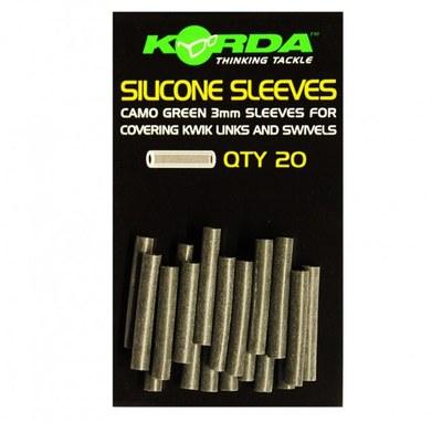 Korda Silicone Sleeves Camo Green