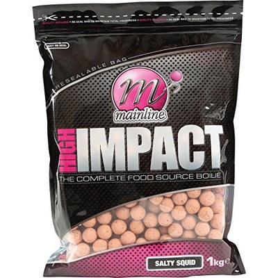 Mainline High Impact Shelf Life Boilies 1kg Salty Squid