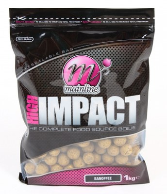 Mainline High Impact Shelf Life Boilies 1kg Banoffee