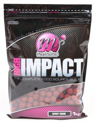 Mainline High Impact Shelf Life Boilies 1kg Spicy Crab