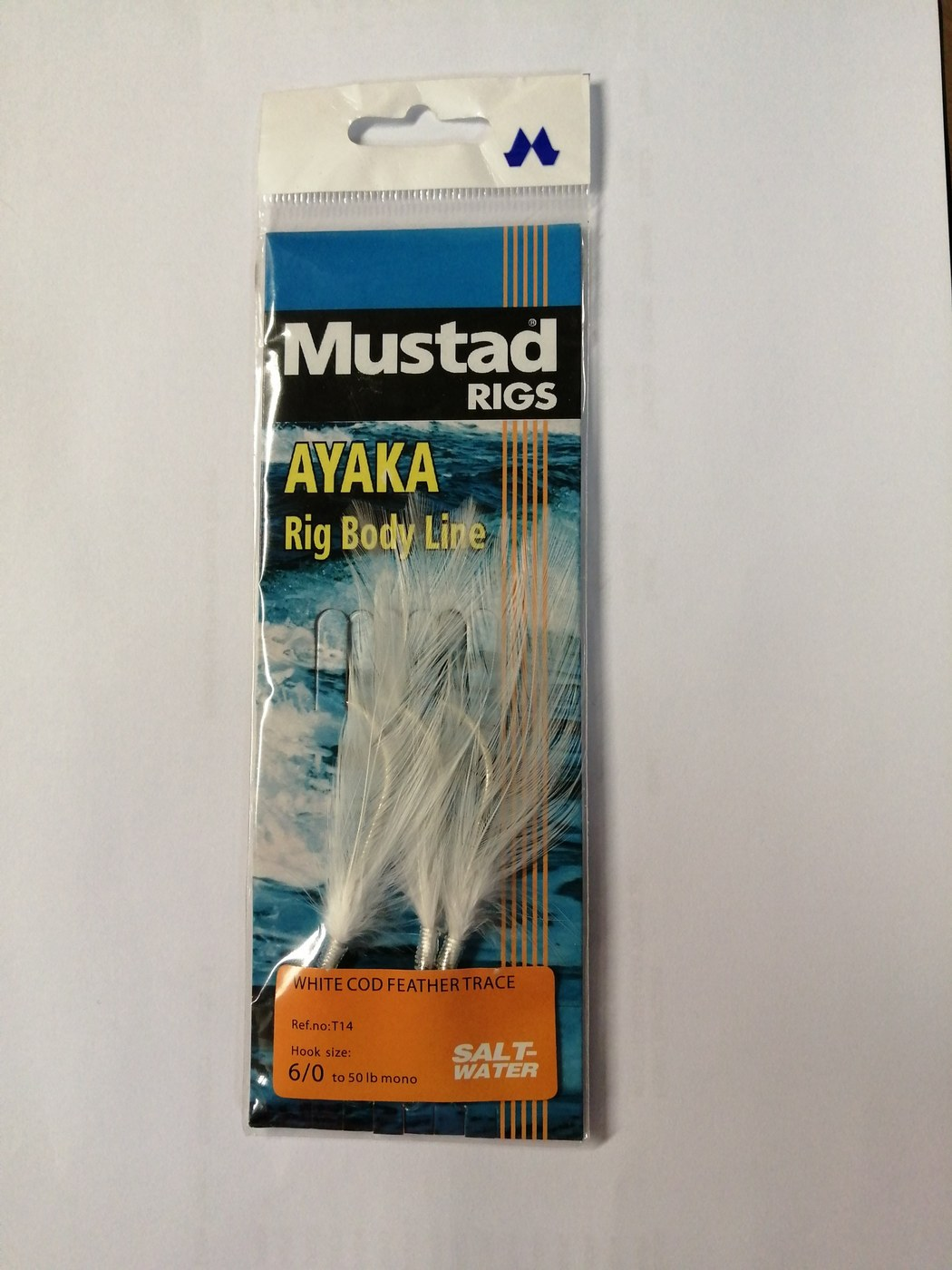 Mustad White Cod Feather Trace