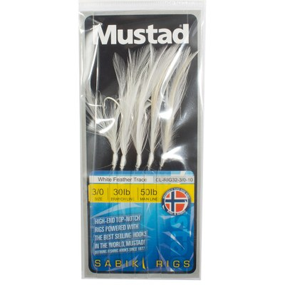 Mustad White Feather Trace