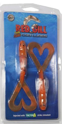 Red Gill Twin Turbo Cod Lure Orange
