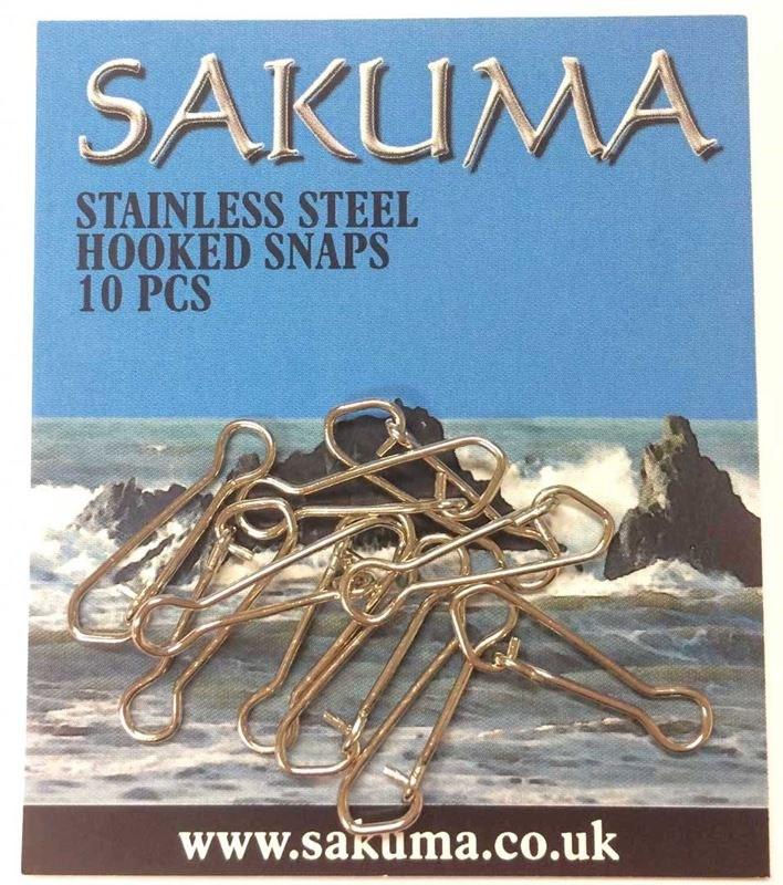 Sakuma Stainless Steel Hooked Snaps