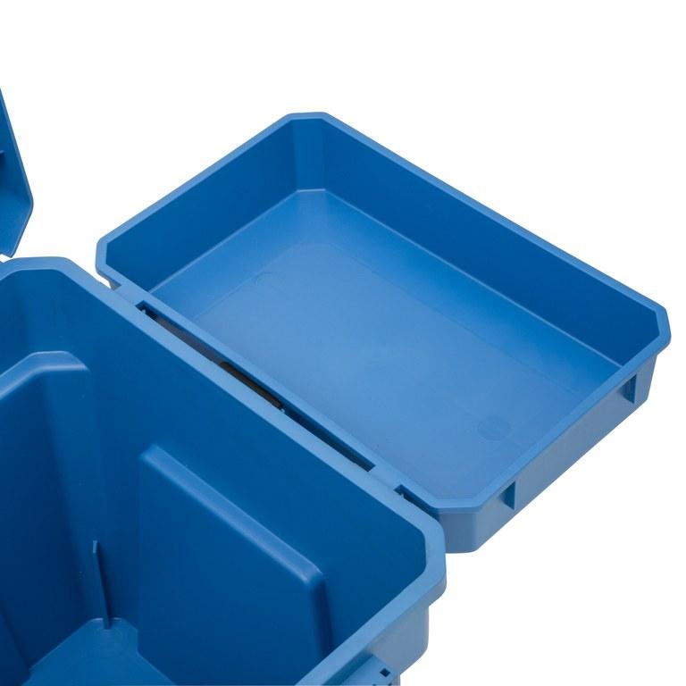 Shakespeare Seat Box Tray Blue Outside