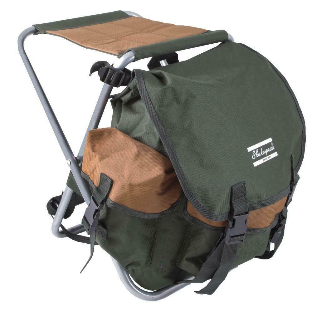 Shakespeare Folding Stool with Back Pack