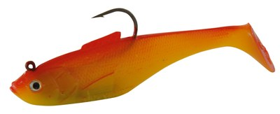 Sidewinder Super Shads Rhubarb/Custard 5""