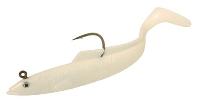 Sidewinder Super Solid Sandeel Ghost White 6""