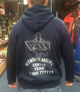 Vass Weymouth Angling Centre Team Hoody Navy / Grey Medium