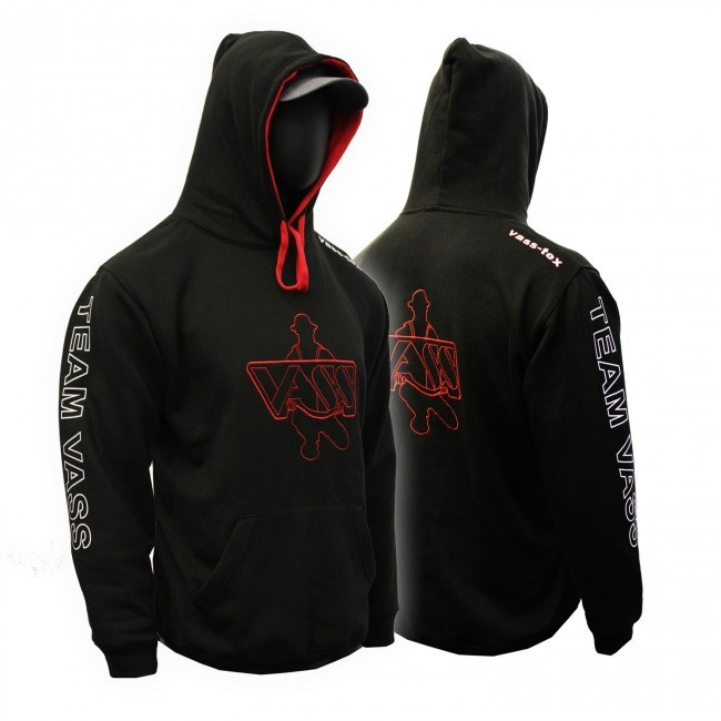 Vass Team Vass Two Tone Hoody Black/Red